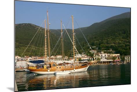 Sailing Boat Off Sami, Kefalonia, Greece-Peter Thompson-Mounted Photographic Print