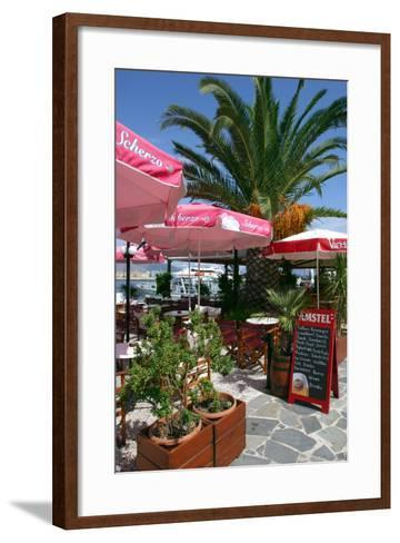 Cafe, Sami, Kefalonia, Greece-Peter Thompson-Framed Art Print
