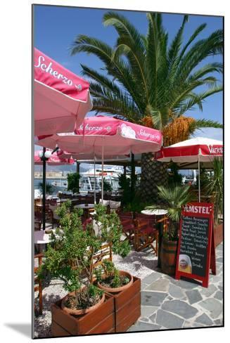 Cafe, Sami, Kefalonia, Greece-Peter Thompson-Mounted Photographic Print