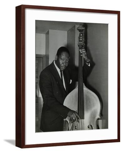 Portrait of American Double Bass Player Curtis Counce, C1950S-Denis Williams-Framed Art Print