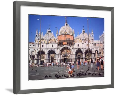 St Marks Square and Basilica, Venice, Italy-Peter Thompson-Framed Art Print