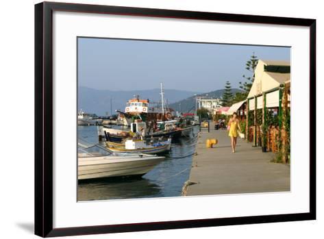 Waterfront at Sami, Kefalonia, Greece-Peter Thompson-Framed Art Print