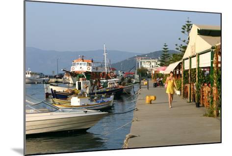 Waterfront at Sami, Kefalonia, Greece-Peter Thompson-Mounted Photographic Print