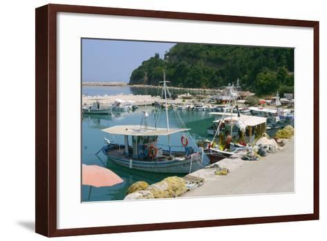 Harbour of Poros, Kefalonia, Greece-Peter Thompson-Framed Art Print