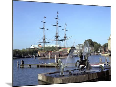 Replica Dutch East Indiaman at Scheepvaart Museum, Amsterdam, Netherlands-Peter Thompson-Mounted Photographic Print