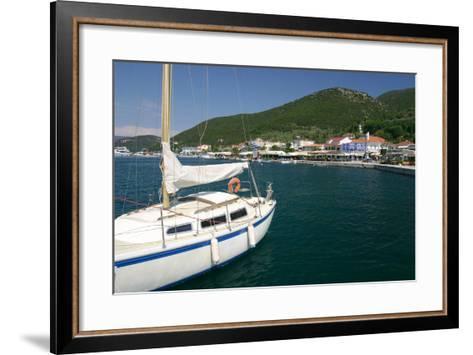 Yacht, Sami, Kefalonia, Greece-Peter Thompson-Framed Art Print