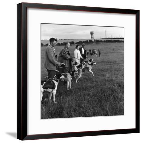Hound Trailing, One of Cumbrias Oldest and Most Popular Sports, Keswick, 2nd July 1962-Michael Walters-Framed Art Print