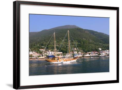 Sailing Boat Off Sami, Kefalonia, Greece-Peter Thompson-Framed Art Print
