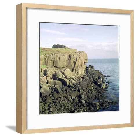 Ruadha a Dunain, a Promontory Fort on the Isle of Skye-CM Dixon-Framed Art Print