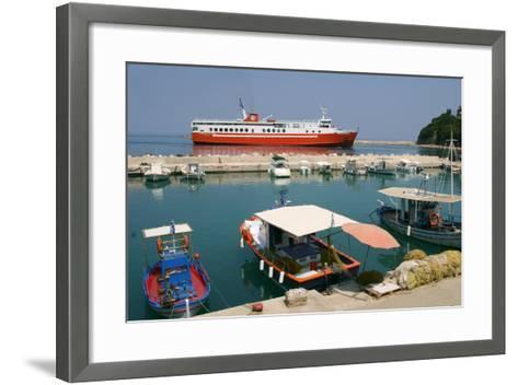 Ferry Entering the Harbour of Poros, Kefalonia, Greece-Peter Thompson-Framed Art Print
