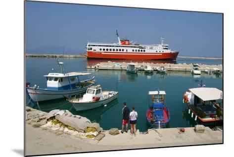 Ferry in the Harbour of Poros, Kefalonia, Greece-Peter Thompson-Mounted Photographic Print