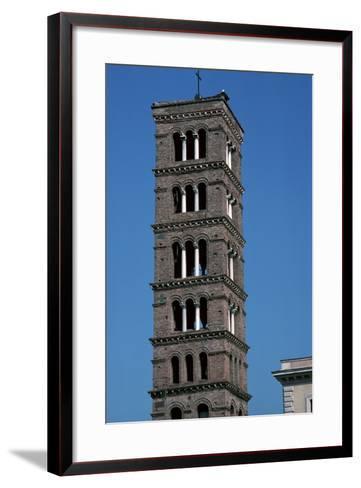 The Tower of Santa Maria in Rome, 12th Century-CM Dixon-Framed Art Print