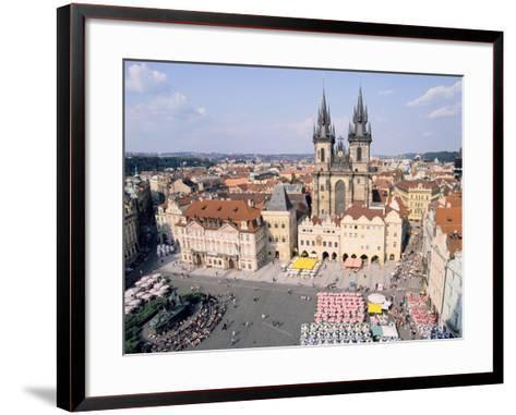 Old Town Square and Tyn Church, Prague, Czech Rebublic-Peter Thompson-Framed Art Print