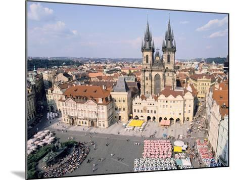 Old Town Square and Tyn Church, Prague, Czech Rebublic-Peter Thompson-Mounted Photographic Print