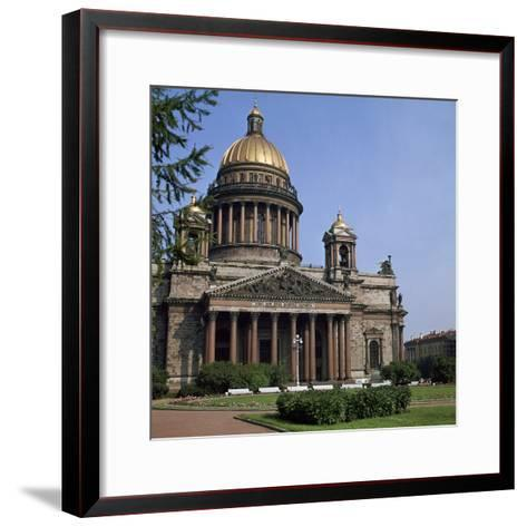 St Isaacs Cathedral in St Petersburg-CM Dixon-Framed Art Print