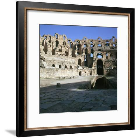 View of the Interior of a Roman Colosseum, 2nd Century-CM Dixon-Framed Art Print