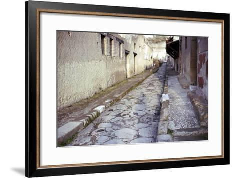 Paved Street in the Roman Town of Herculaneum, Italy-CM Dixon-Framed Art Print