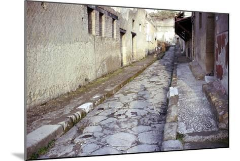Paved Street in the Roman Town of Herculaneum, Italy-CM Dixon-Mounted Photographic Print