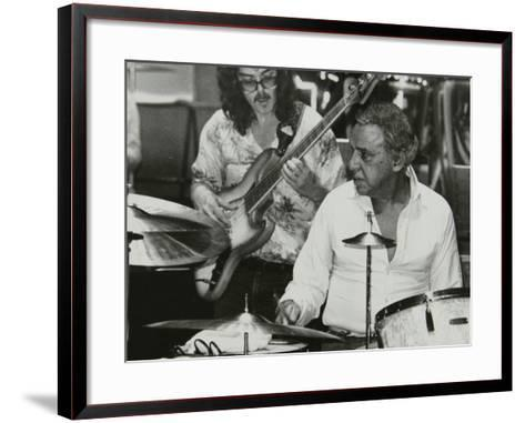 Buddy Rich and Dave Carpenter Playing at the Royal Festival Hall, London, June 1985-Denis Williams-Framed Art Print