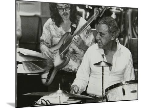 Buddy Rich and Dave Carpenter Playing at the Royal Festival Hall, London, June 1985-Denis Williams-Mounted Photographic Print