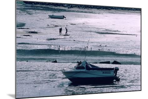 Boat at Low Tide, Port-En-Bessin, Normandy, France-Peter Thompson-Mounted Photographic Print