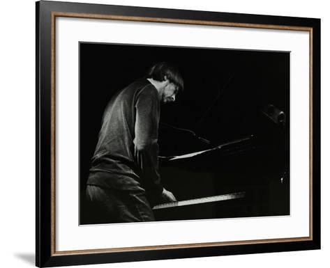 Michael Garrick on the Piano at the Stables, Wavendon, Buckinghamshire-Denis Williams-Framed Art Print