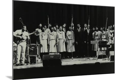 The Inspirational Choir on Stage at the Forum Theatre, Hatfield, Hertfordshire, 1985-Denis Williams-Mounted Photographic Print