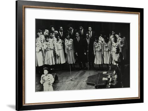 The Inspirational Choir on Stage at the Forum Theatre, Hatfield, Hertfordshire, 1985-Denis Williams-Framed Art Print