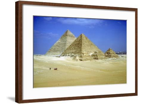 Pyramids of Khafre and Mycerinus and Three Pyramids of His Queens, Giza, Egypt, C2600-C2500 Bc-CM Dixon-Framed Art Print