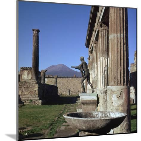 Bronze Statue at Temple of Apollo in Pompeii, 1st Century-CM Dixon-Mounted Photographic Print