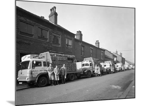 Fleet of Soft Drinks Delivery Lorries, Mexborough, South Yorkshire, 1961-Michael Walters-Mounted Photographic Print