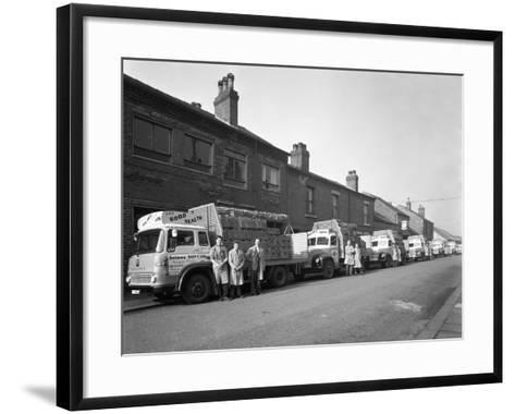 Fleet of Soft Drinks Delivery Lorries, Mexborough, South Yorkshire, 1961-Michael Walters-Framed Art Print