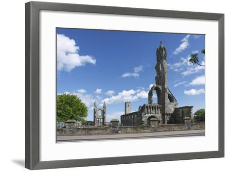 St Andrews Cathedral and St Rules Tower, Fife, Scotland, 2009-Peter Thompson-Framed Art Print