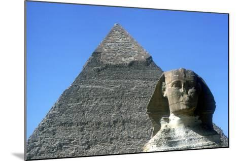 The Sphinx and Pyramid of Khafre (Chephren), Giza, Egypt, 4th Dynasty, 26th Century Bc-CM Dixon-Mounted Photographic Print