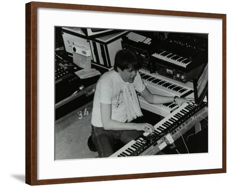 German Electronic Musician Klaus Schulze at the Forum Theatre, Hatfield, Hertfordshire, 1983-Denis Williams-Framed Art Print
