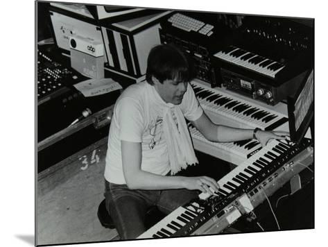 German Electronic Musician Klaus Schulze at the Forum Theatre, Hatfield, Hertfordshire, 1983-Denis Williams-Mounted Photographic Print