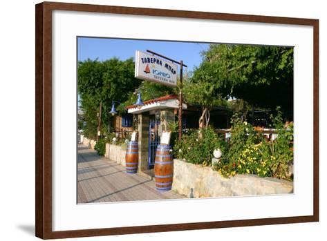 Taverna Lassi, Kefalonia, Greece-Peter Thompson-Framed Art Print