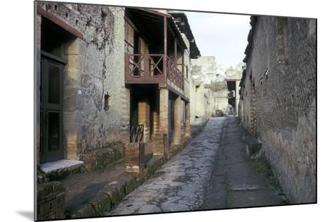 Casa a Graticcio, Herculaneum, Italy: Facade of the Roman House-CM Dixon-Mounted Photographic Print