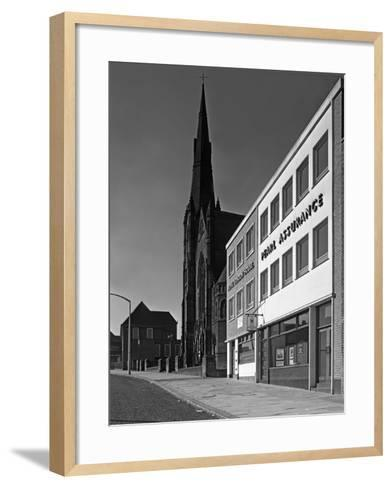 The Royal Insurance Building in Moorgate, Rotherham, South Yorkshire, 20 July 1962-Michael Walters-Framed Art Print