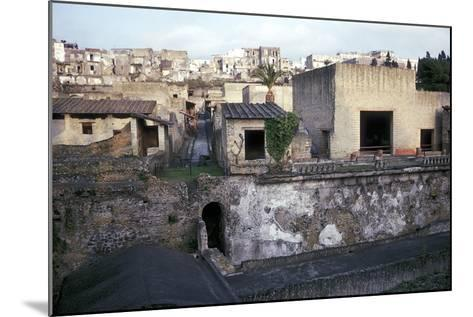 Buildings of Herculaneum with Houses of the Modern Town of Ercolano Above, Italy-CM Dixon-Mounted Photographic Print