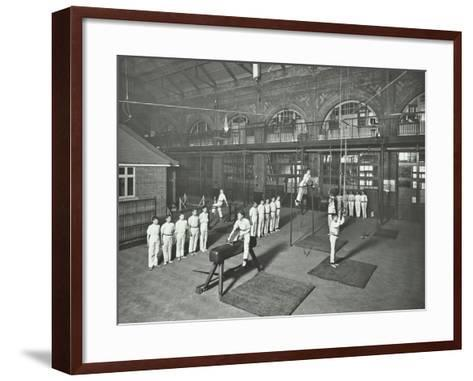 Gymnastics by Male Students, School of Building, Brixton, London, 1914--Framed Art Print