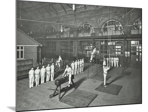 Gymnastics by Male Students, School of Building, Brixton, London, 1914--Mounted Photographic Print