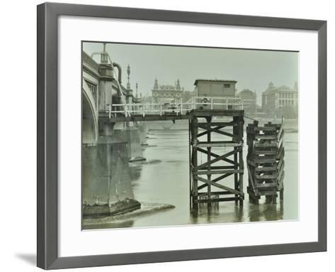 Emergency Water Supply Pump Platform, Westminster Bridge, London, Wwii, 1944--Framed Art Print