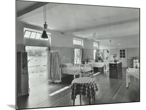 A Ward at Orchard House, Claybury Hospital, Woodford Bridge, London, 1937--Mounted Photographic Print