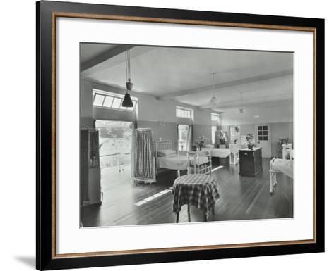 A Ward at Orchard House, Claybury Hospital, Woodford Bridge, London, 1937--Framed Art Print