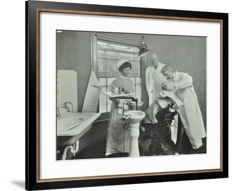 Dental Room, Woolwich School Treatment Centre, London, 1914--Framed Art Print