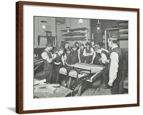 Making Pianos, Benthal Road Evening Institute, London, 1914--Framed Art Print