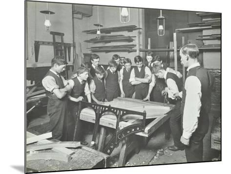 Making Pianos, Benthal Road Evening Institute, London, 1914--Mounted Photographic Print