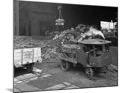 Loading a Steam Wagon with Scrap at a Steel Foundry, Sheffield, South Yorkshire, 1965-Michael Walters-Mounted Photographic Print