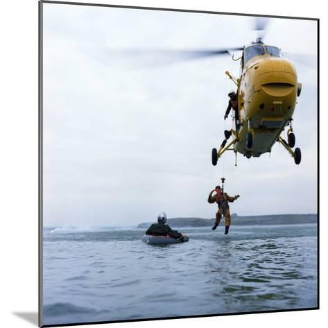 Westland Whirlwind Helicopter Making a Rescue, 1973-Michael Walters-Mounted Photographic Print